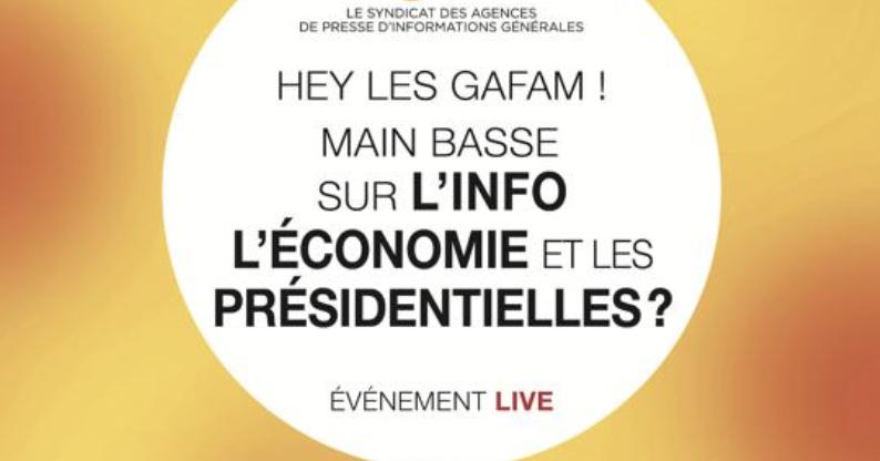 ETX Studio co-anime les tables rondes «Hey les GAFAM ! Main basse sur les agences, les médias et les présidentielles ?»