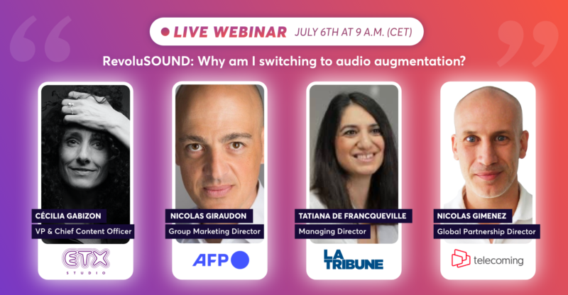 """ETX Studio & AFP hosted their second webinar: """"RevoluSOUND: why am I switching to audio augmentation?"""""""