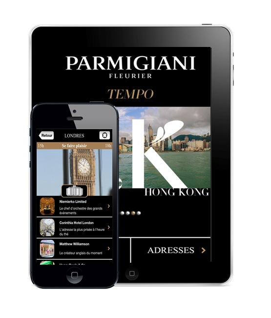 Relaxnews, source de bonnes adresses pour l'application city guide de Parmigiani Fleurier
