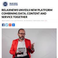Relaxnews à la une sur le site de l'ONA
