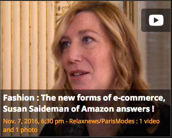 Interview videos of 4 major fashion business players – Amazon, Condé Nast, AMI and Chloé – talking to Paris Modes